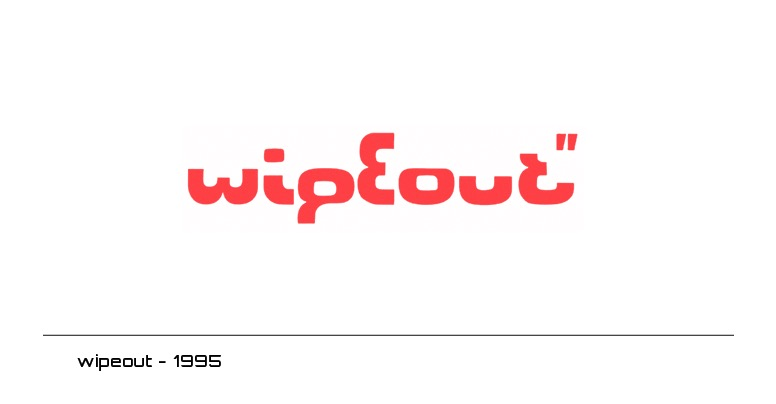 Wipeout Game Logos by the designers republic
