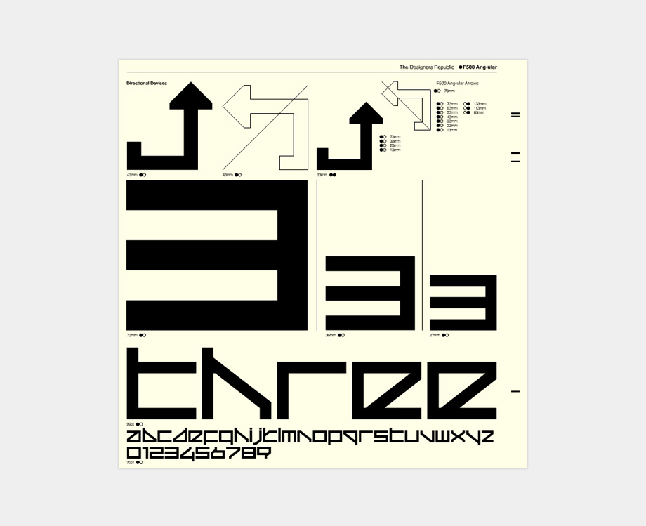 Official Wipeout Font - F500 Ang-ular by The Designers Republic