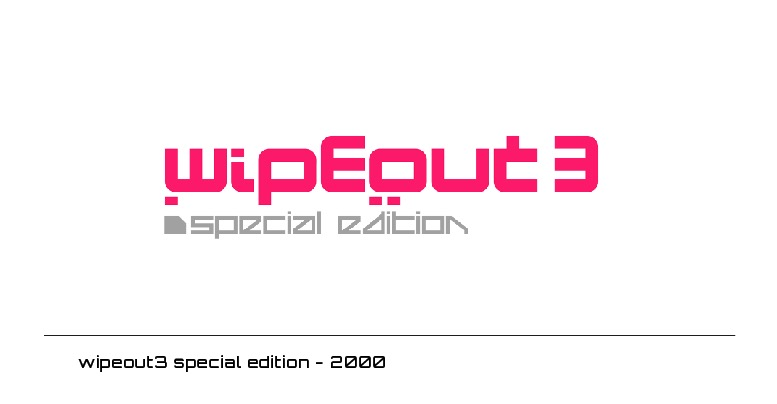 wipeout3 special edition logo- 2000