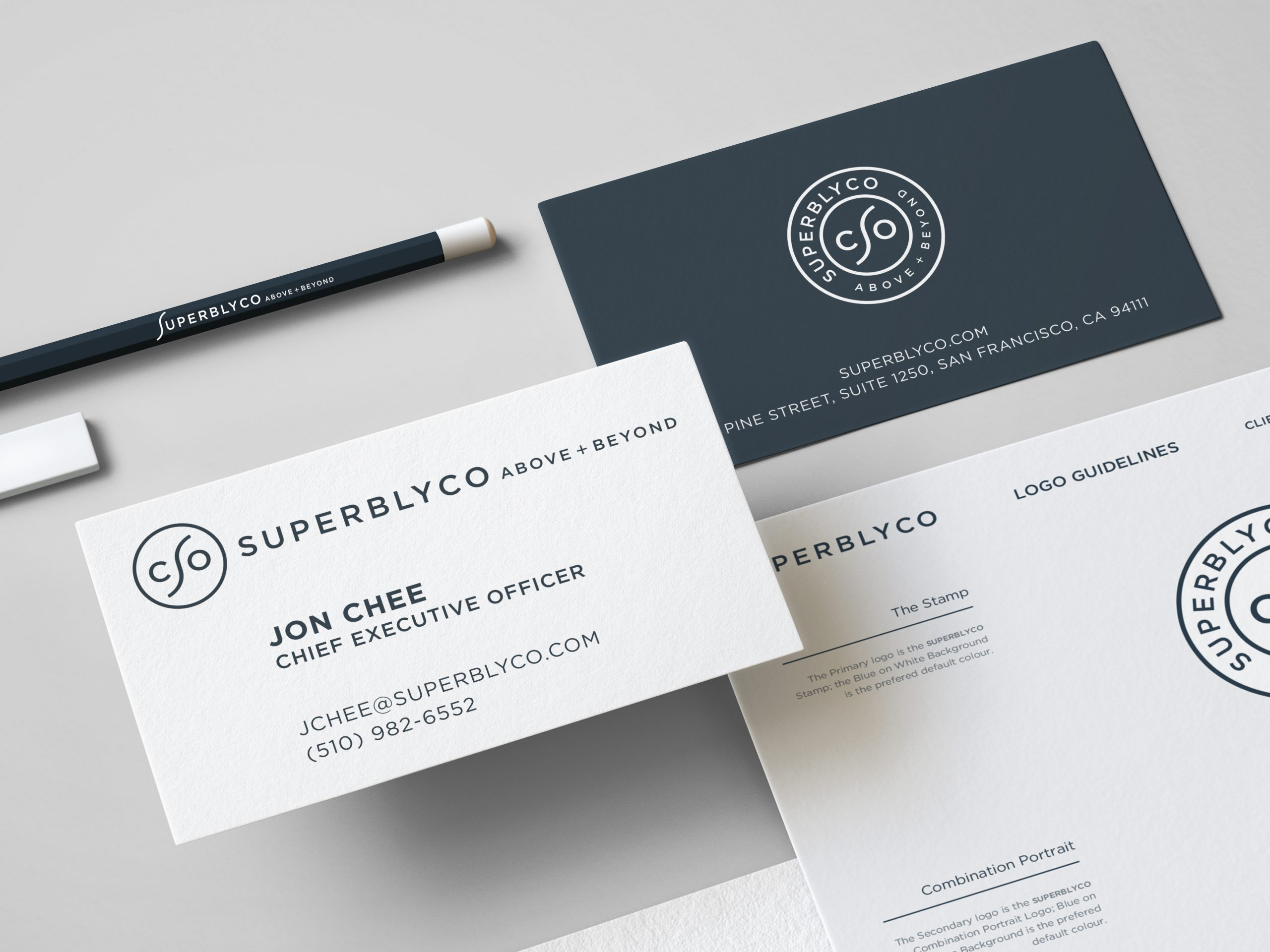 SuperblyCo Logo Brand Identity-Stationery design mockup 06 by the logo smith