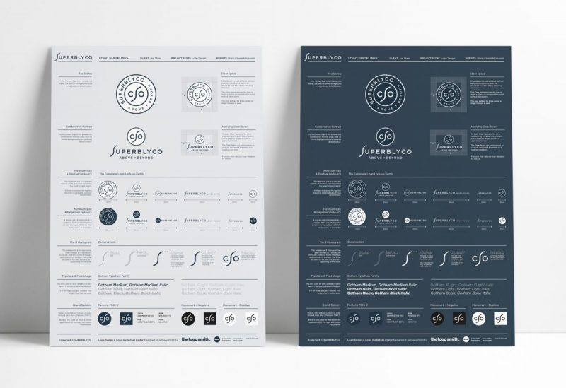 One Page Brand Logo Guidelines Template