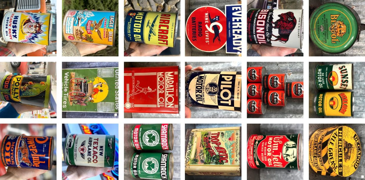 tntpetroliana Vintage Can-Gas-&-oil antique Graphic Oil Cans PETROLIANA