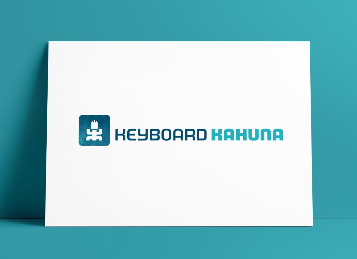 Keyboard Kahuna Logo MockUp Poster Designed by The Logo Smith