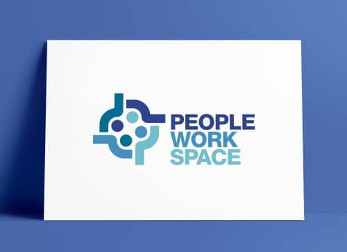 PeopleWorkSpace brand mark designed by Smith