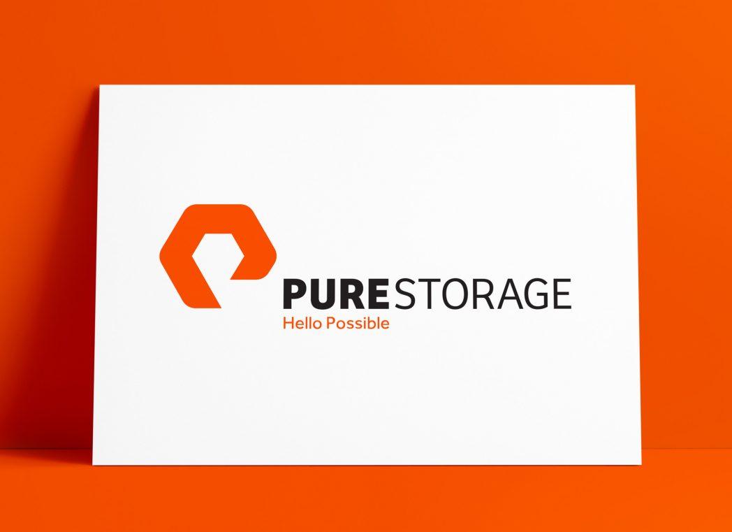 Pure Storage Logo MockUp Poster The Logo Smith