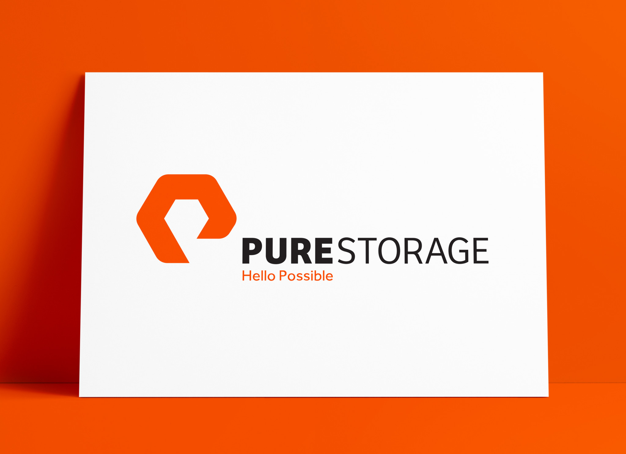 Pure Storage Logo MockUp Poster The Logo Smith