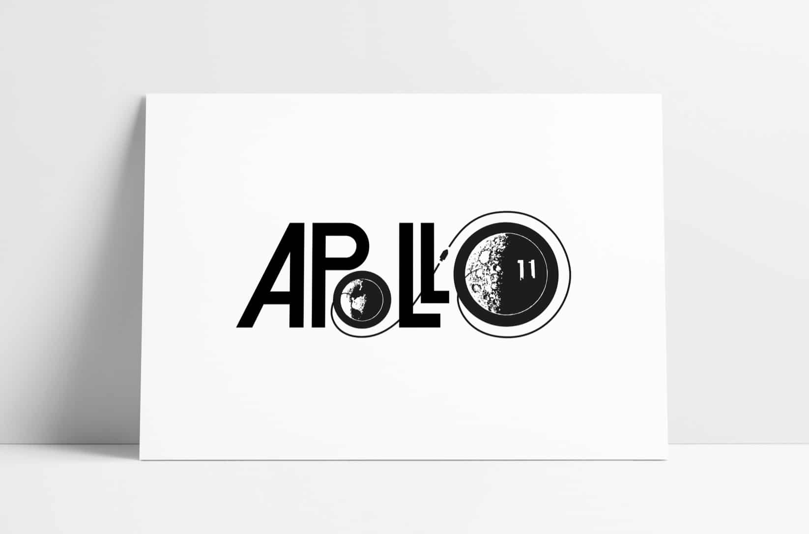 Apollo 11 Bell Aerosystems Press Kit Logo recreated by The Logo Smith
