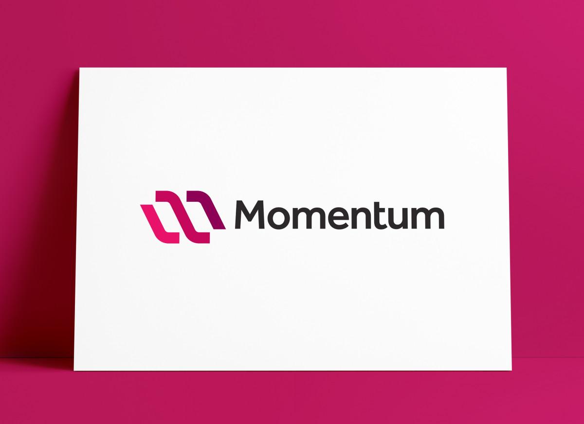 Momentum Logo MockUp Poster The Logo Smith
