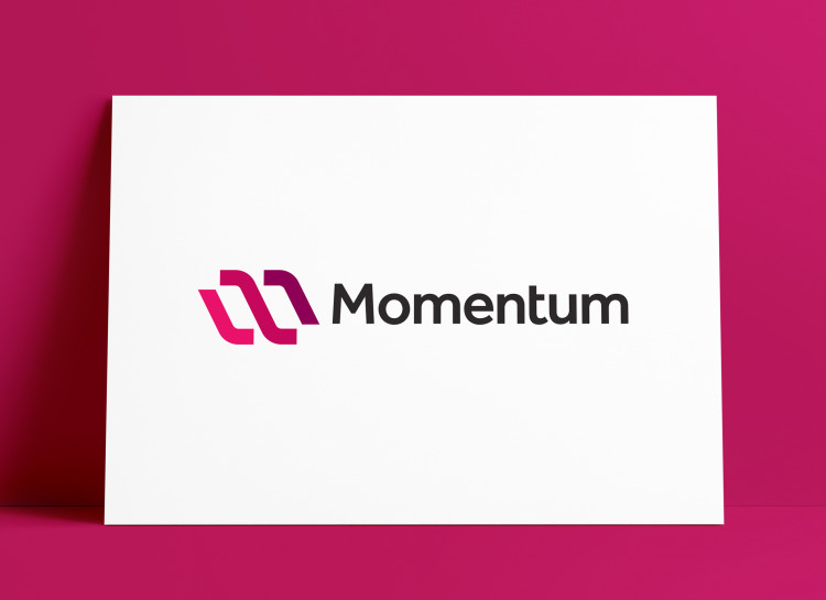 Momentum Logo MockUp Poster The Logo Smith