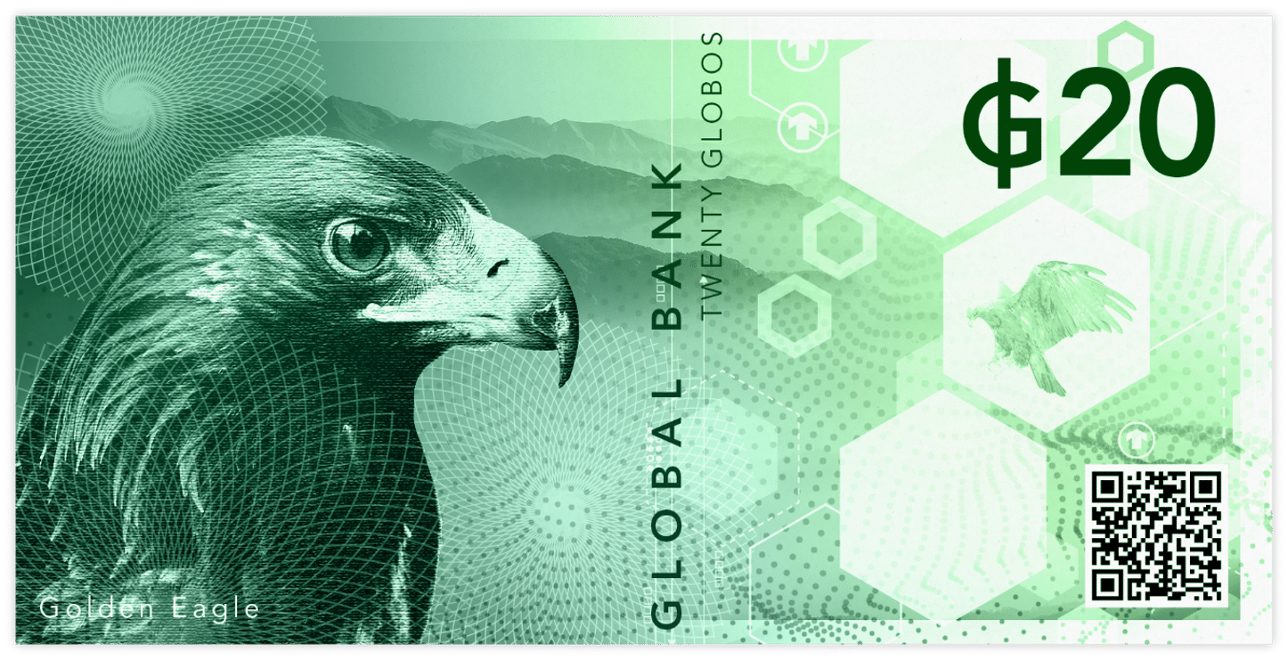 Currency in Colour Global Note Front