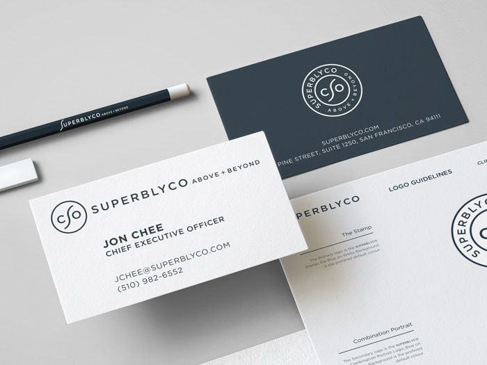 SuperblyCo Logo Brand Identity Stationery-design mockup the logo smith