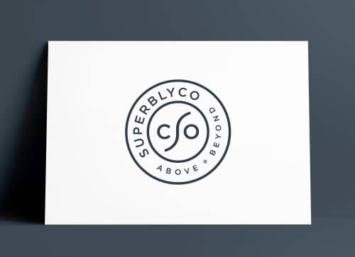 SuperblyCo Logo and Brand Identity Design by The Logo Smith