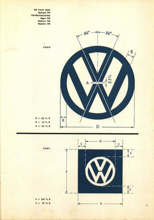 VW Logo Specifications Sheet