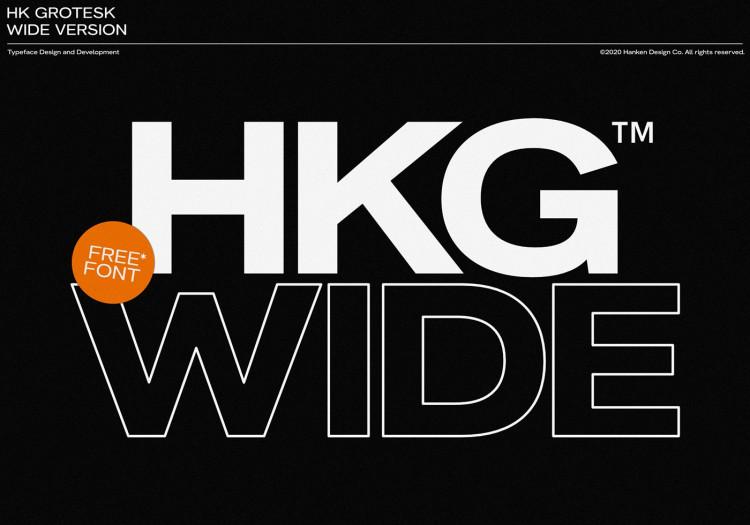 HK Grotesk Wide free font by Hanken Design Co