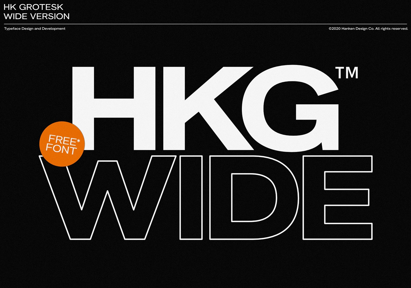 HK Grotesk Wide free font by Hanken Design Co