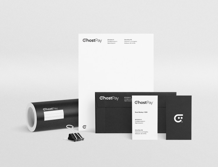 GhostPay Stationery Designed by The Logo Smith