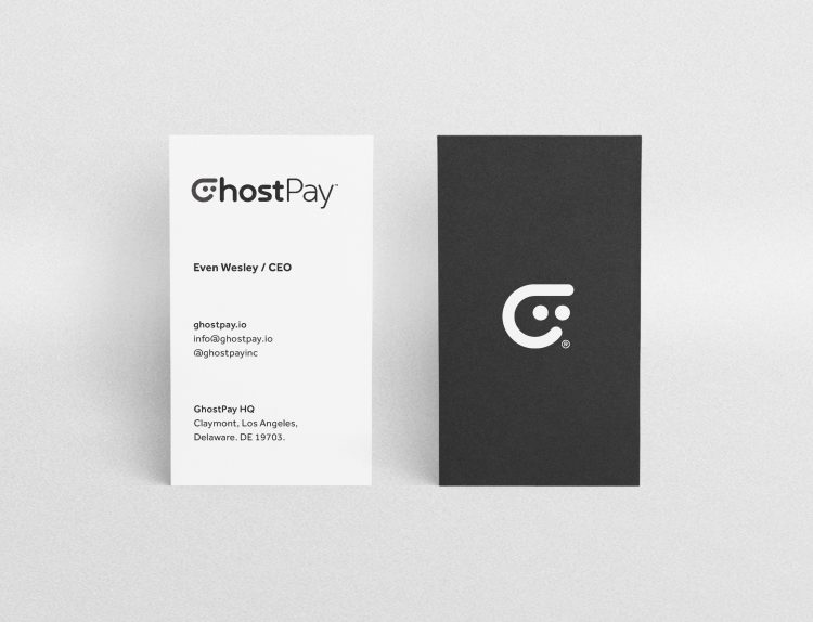 GhostPay Business Cards Designed by The Logo Smith