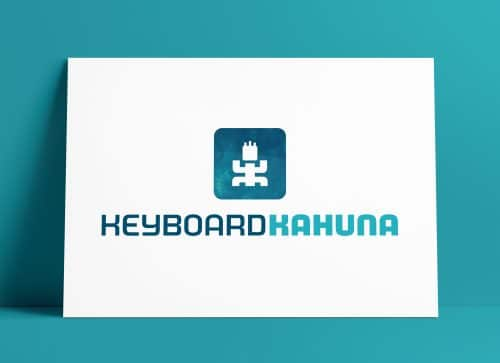 Keyboard Kahuna Logo MockUp Poster Designed by The Logo Smith
