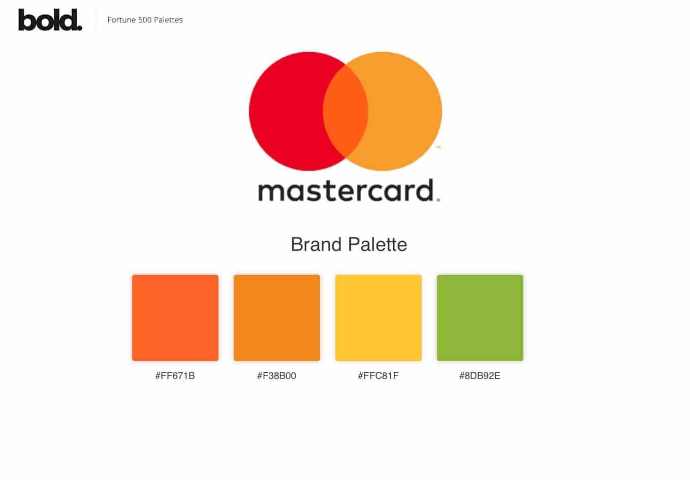 Color Palettes of the Fortune 500 Brand Logo Designs