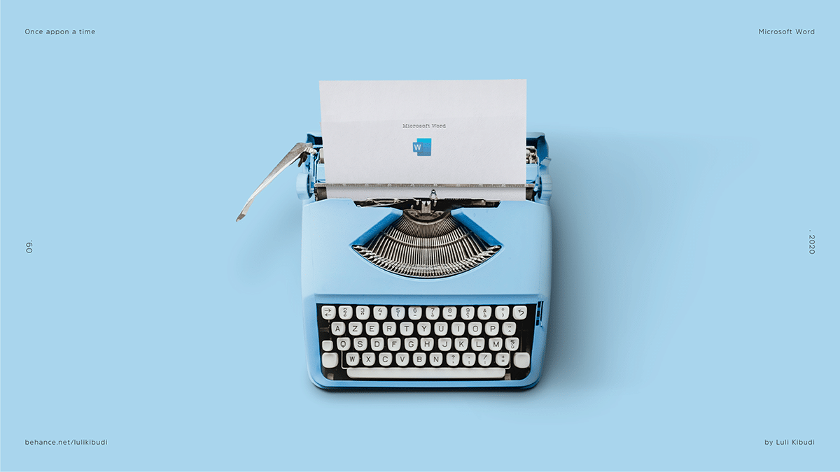 Microsoft Word Typewriter Once Appon a Time