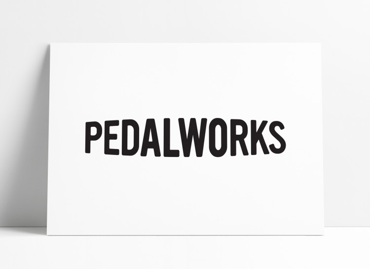 PedalWorks Bike Shop Word Mark Designed by The Logo Smith