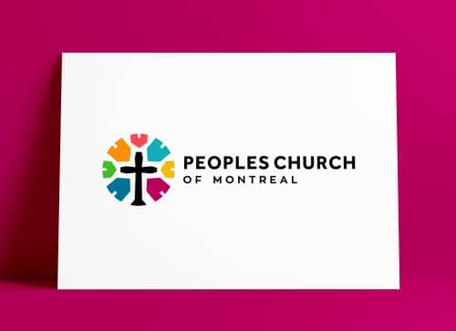 Peoples Church of Montreal Church Logo MockUp Poster The Logo Smith