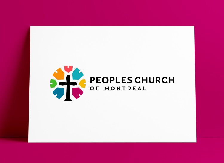 Peoples Church of Montreal Church Logo MockUp Poster The Logo Smith 1