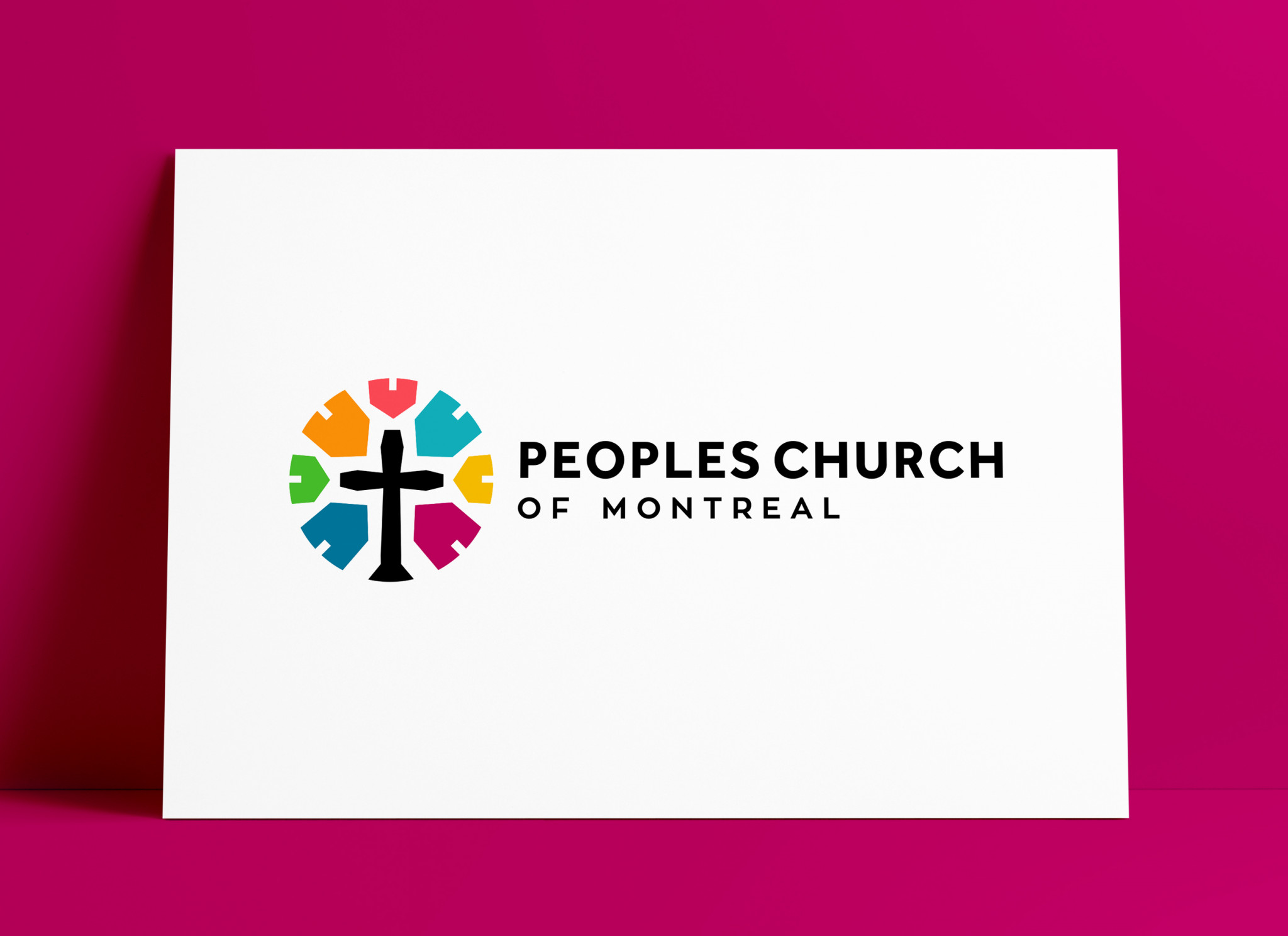 Peoples Church of Montreal Logo and Brand Identity Design by The Logo Smith