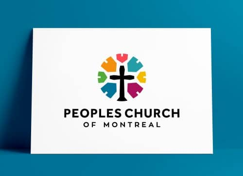 Peoples Church of Montreal Portrait Logo Designed by The Logo Smith