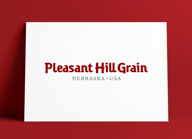 Pleasant Hill Grain Logo MockUp Poster The Logo Smith