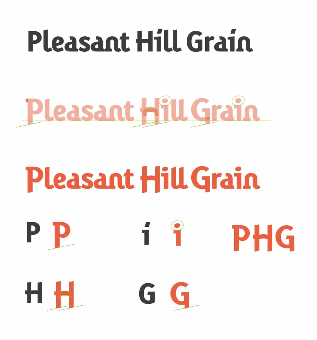 Pleasant Hill Grain Logo Redesigned by The Logo Smith