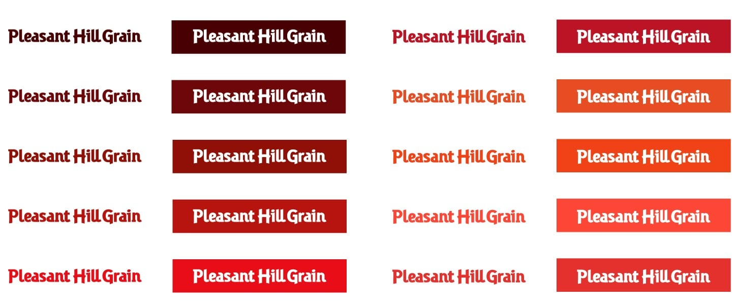 Color options for Pleasant Hill Grain Logo Redesign