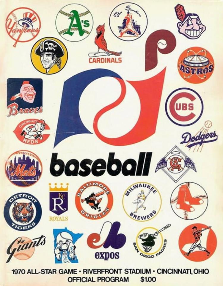 Vintage 1970 All-Star Baseball Game Official Program Riverfront Stadium Ohio 1