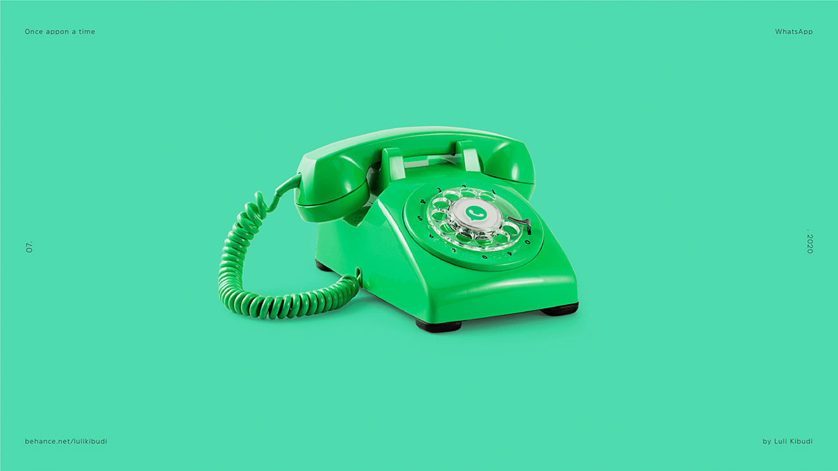 WhatsApp Rotary Telephone Once Appon a Time