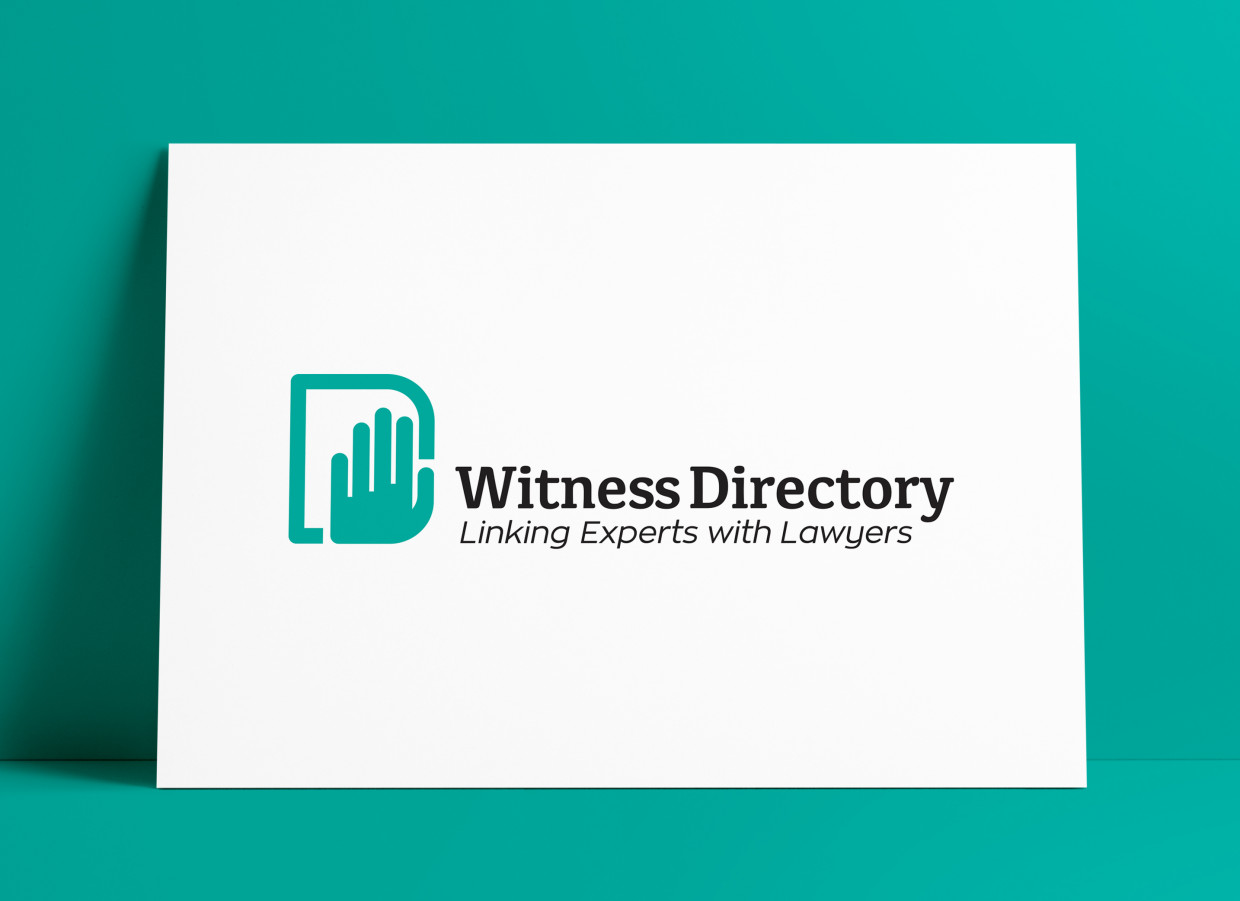 Witness Directory Linking Expert Witnesses with Lawyers Logo Designed by The Logo Smith