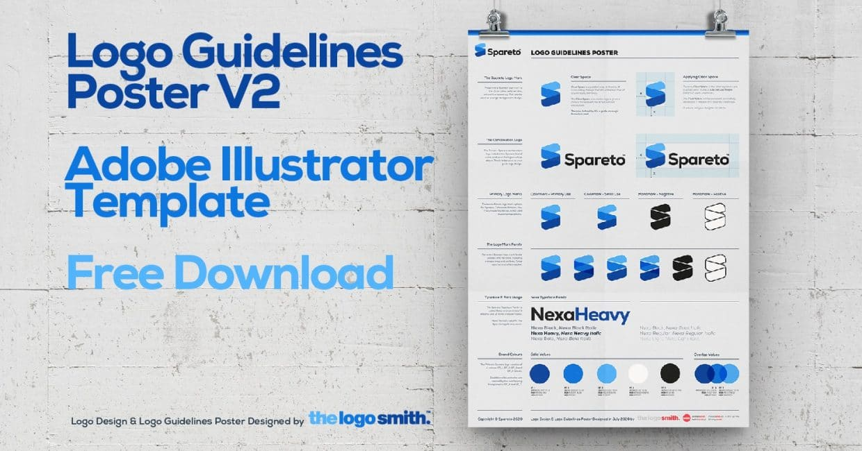 Logo Guidelines Poster V2 Adobe Illustrator Template Free Download by The Logo Smith