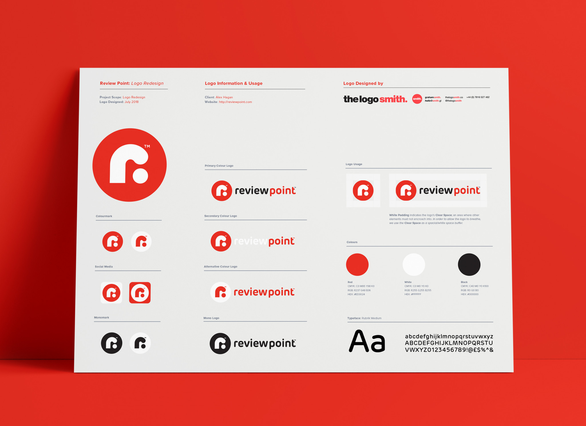 Logo Guidelines Template Designed by The Logo Smith