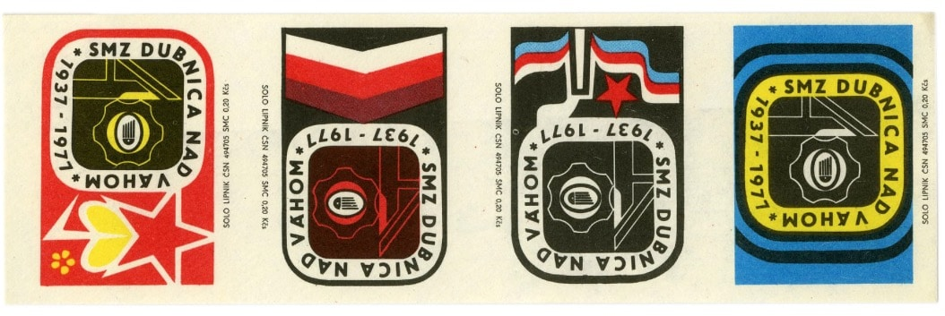 Czech Matchbox Labels (uncut sheet).  Factory: Solo Lipnik
