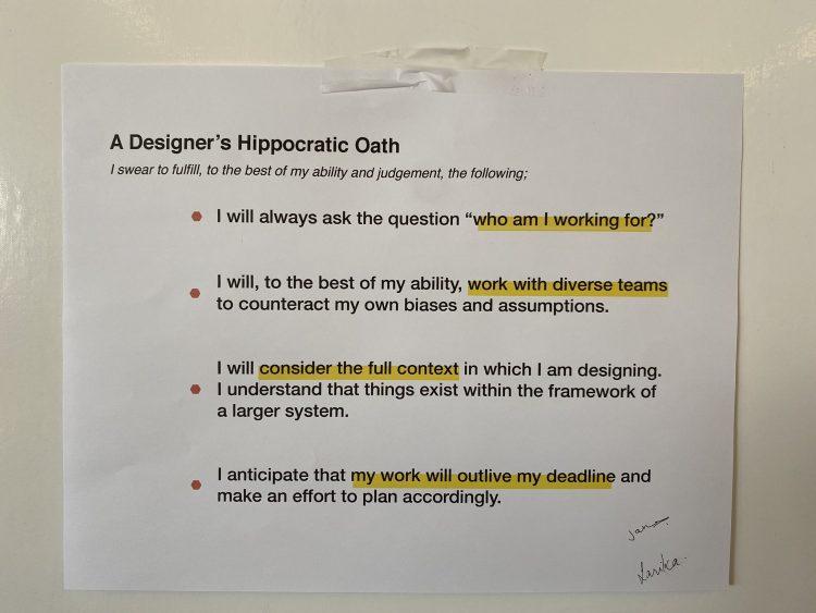 A Designers Hippocratic Oath Design Manifesto, Design Code of Ethics