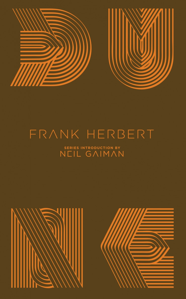 DUNE Back Cover Artwork of the Penguin Classics Hardback Version of Frank Herbert's Classic Book Designed by Alex Trochut