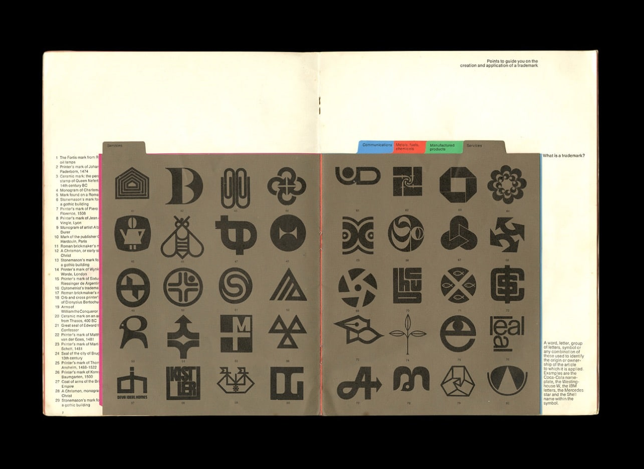 Man and His Mark - Trademarks and Company Symbols Designed by Les Mason