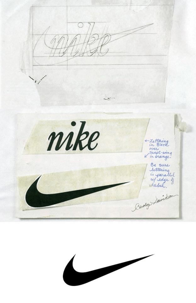 Nike Logo Sketch Designed by Carolyn Davidson