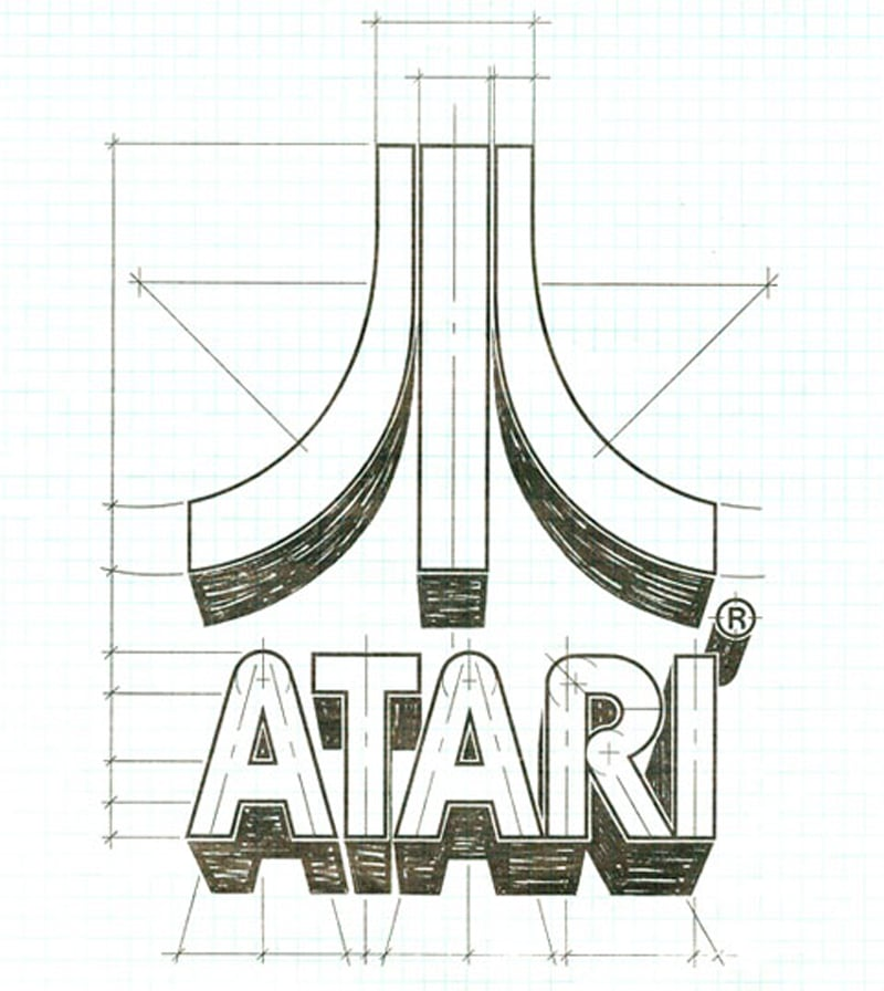 The Atari logo was designed by George Opperman in 1972