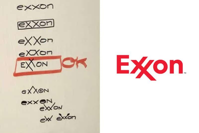 exxon napkin doodle