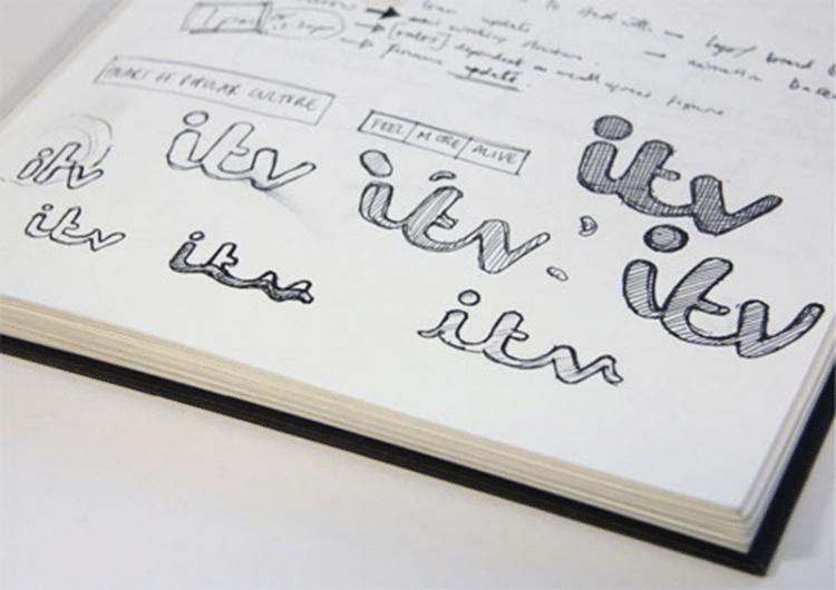 itv Logo Sketches Designed by Rudd Studio