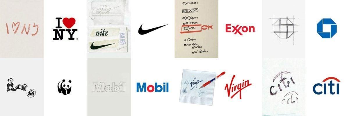 logo sketches and logo napkin doodle sketches