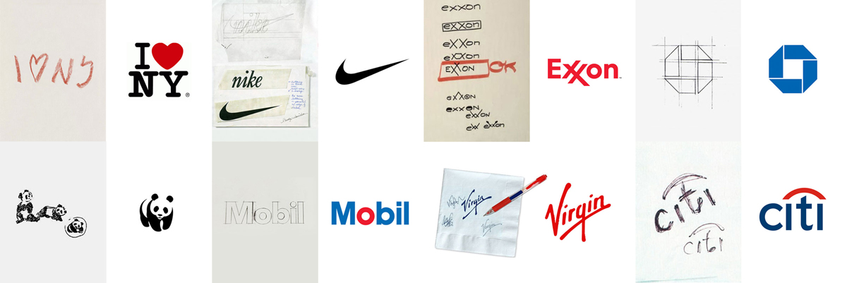 logo sketches and logo napkin doodle sketches
