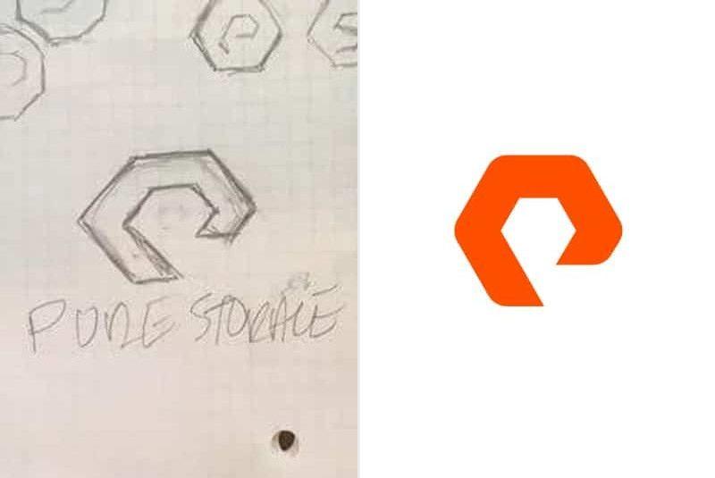 pure storage logo sketch designed by the-logo-smith
