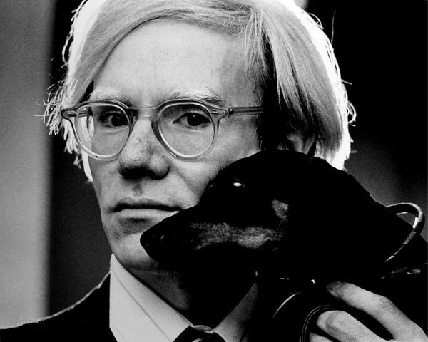 Andy Warhol, between 1966 and 1977. Photograph by Guy Mitchell
