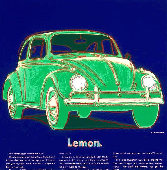 Volkswagen Ad Portfolio (Lemon) By Andy Warhol